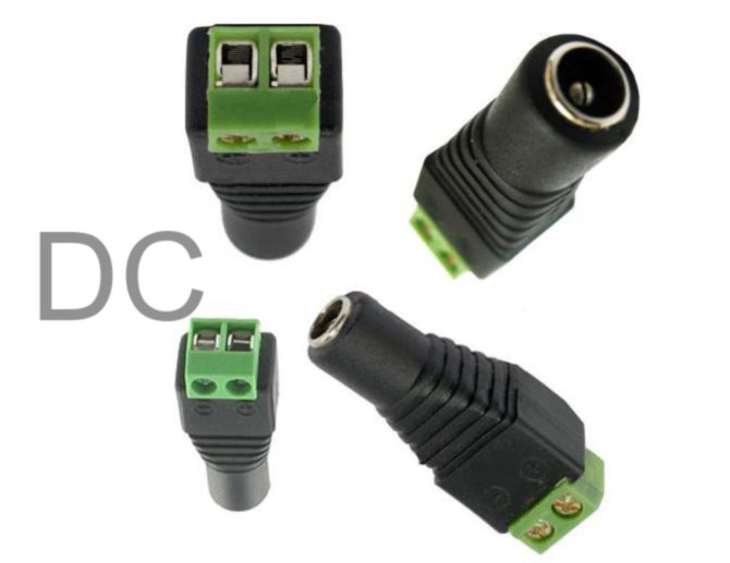 cctv female dc plug