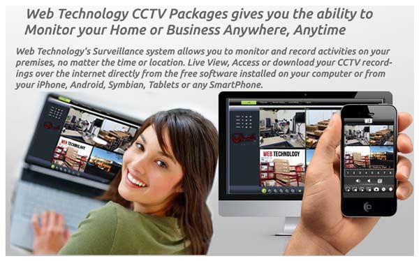 CCTV DVR Remote monitoring and recording.