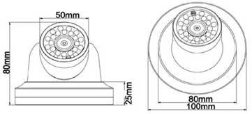 CCTV Size chart