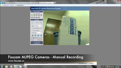 Recording Manually on IE