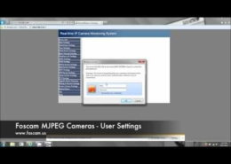 User Settings on MJPEG Foscam Ip Camera