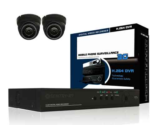 2 Channel CCTV Package 700TVL SR-433CEDIR