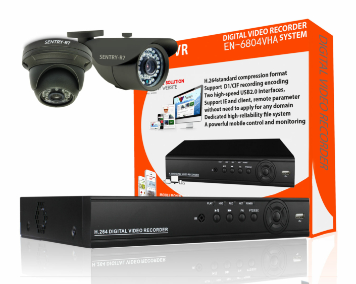 2 channel indoor outdoor cctv package