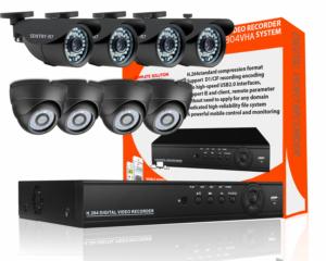 8 channel indoor outdoor cctv package