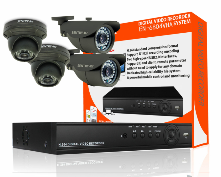 700 tvl indoor outdoor cctv camera package