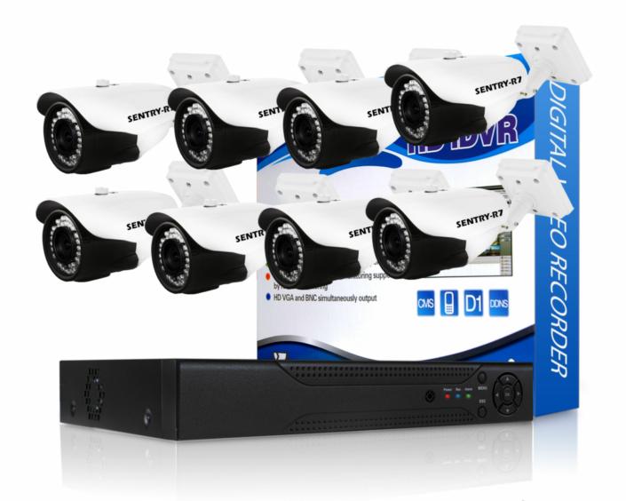 720p 8 Channel AHD CCTV Kit