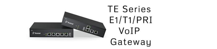 TE Series E1/T1/PRI VoIP Gateway